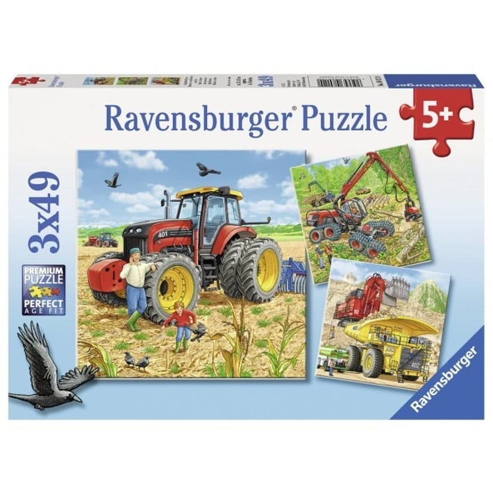 Tractor, logging, mining puzzles
